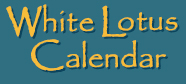 White Lotus Calendar 2018