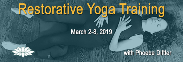 Restorative Yoga Training, March 3-9 2018 with Phoebe Diftler